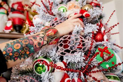 blonde vintage christmas tree treetopia gorgeous flocked christmas tree with vintage santa claus