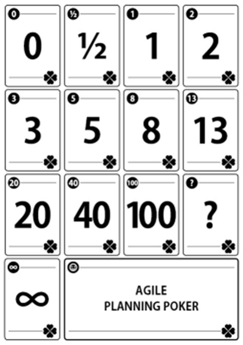 Printable Planning Poker Cards | janaka heenkenda s blog agile software development