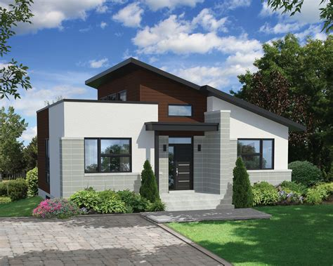 Compact Home Plans by Bold And Compact Modern House Plan 80775pm
