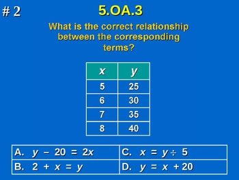 pattern and relationships in math 5th grade common core math 5 oa 3 analyze patterns and
