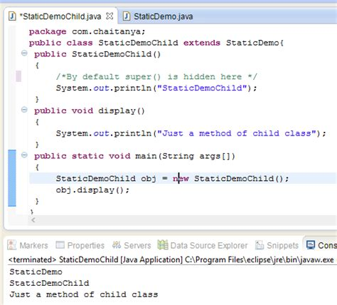 tutorial java class java static constructor is it really possible to have