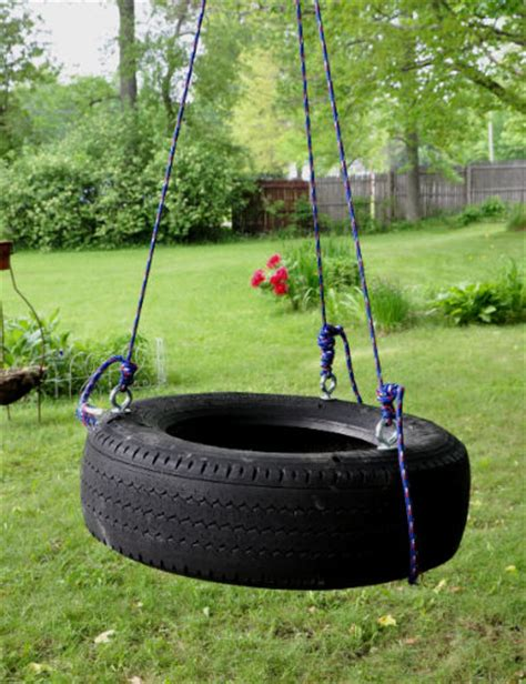 best rope for tire swing marvelously messy backyard tire swing project