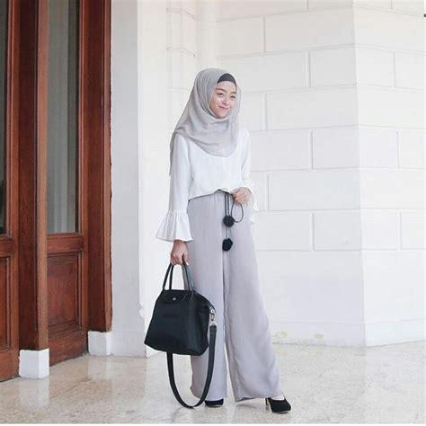 Celana Kulot Lebar Putih 17 model celana kulot untuk wanita gemuk modern dan trendy