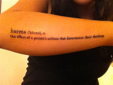 karma tattoo lyrics karma and its definition to remind me everyday font