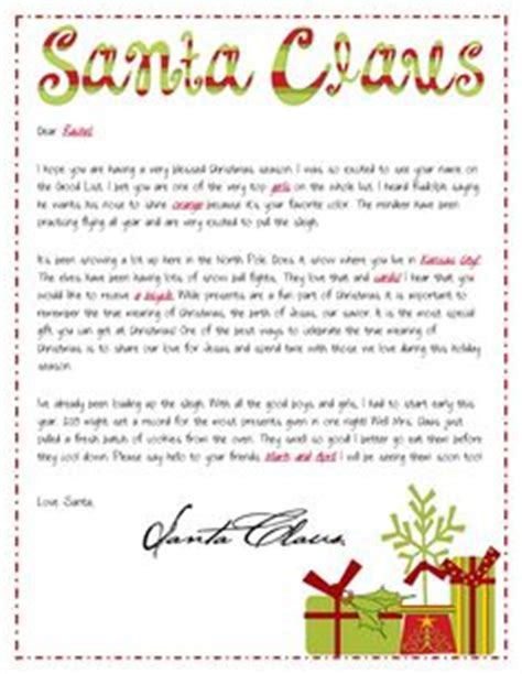 free printable religious santa letters 1000 images about letters from santa on pinterest