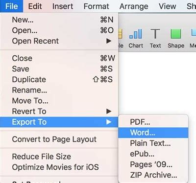convert pdf to word selected pages how to convert pages files to microsoft word format