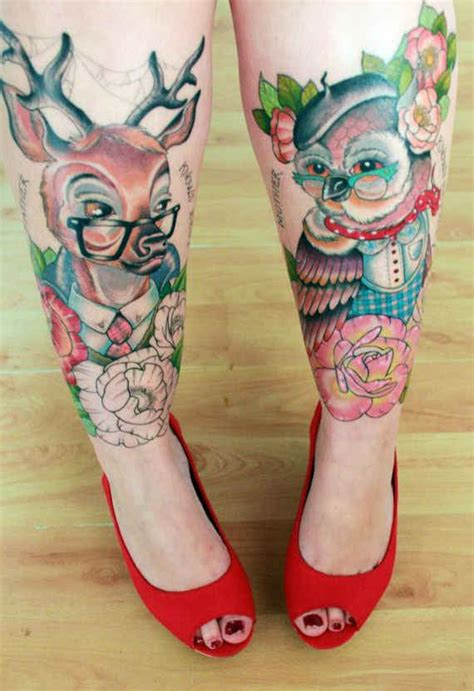 girly leg tattoo designs 80 fashionable and wonderful leg tattoos and designs