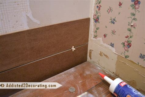 Bathroom Makeover Day 7 ? Faux Wood Plank Walls, Part 1
