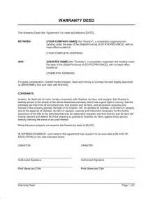 warranty deed template free warranty deed template free printable documents