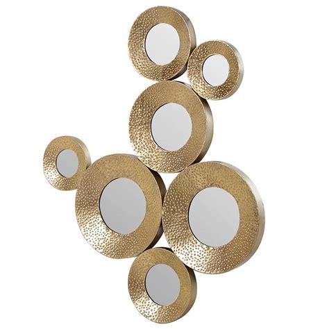 Ideas For Bedroom Decor mirrored circles wall decor rustic mirrored circles wall