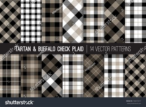 plaid pattern en espanol tartan buffalo check plaid vector patterns stock vector