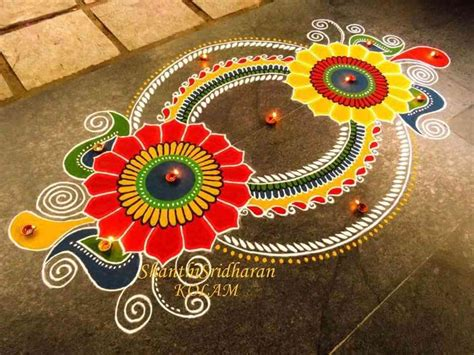 design of free hand rangoli diwali party celebration ideas for home office 2017