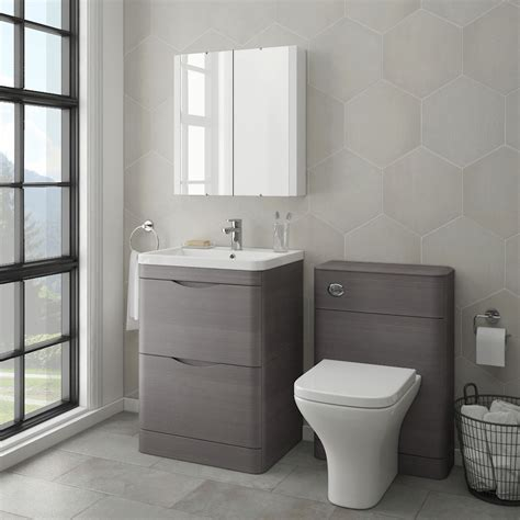 grey bathroom sink unit monza modern stone grey sink vanity unit toilet package