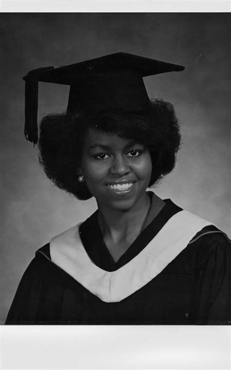 Michelle Obama's high school graduation picture