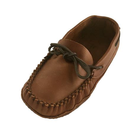 mens moccasin slippers soft sole s wide width fit genuine leather soft sole