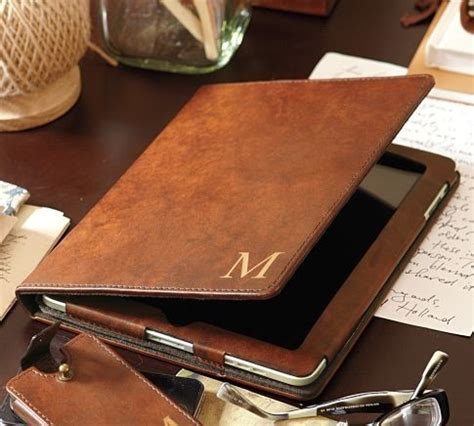 leather desk accessories saddle leather tablet contemporary desk