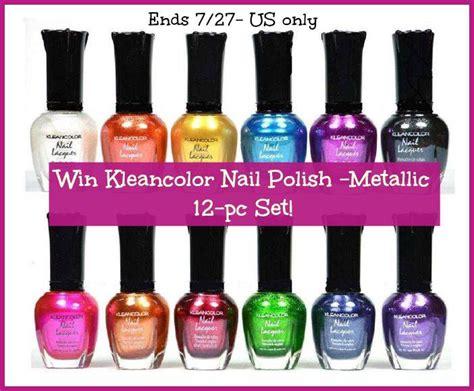 Nail Polish Giveaway - kleancolor nail polish 12 pc metallic set flash giveaway