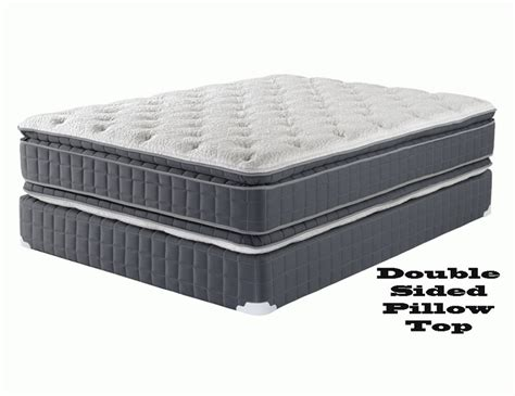 pillow top king bed double pillow top mattress set twin full queen and king bed