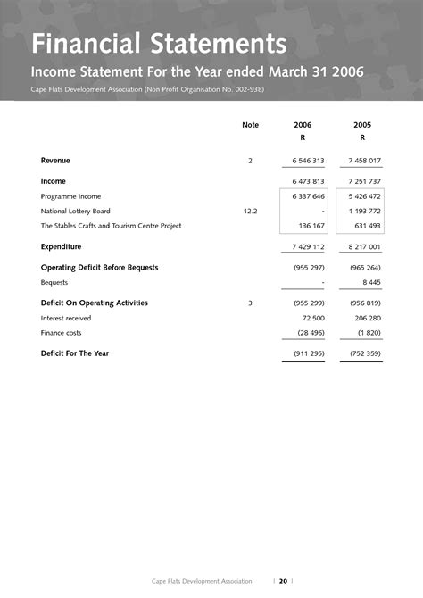 Non Profit Financial Statement Template Saupimmel Non Profit Financial Report Template