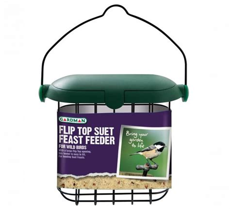gardman flip top suet feast feeder kelways