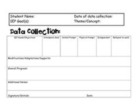 1000 Images About Special Ed Forms And Info On Pinterest Goals And Objectives Special Iep Goal Data Collection Template