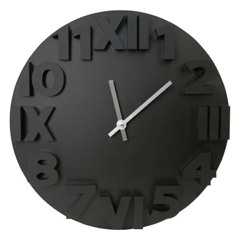 black wall clocks modern platinet wall clock modern black 42985 wall clocks