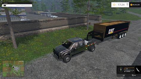 cat semitrailer gooseneck for ls15 farming simulator