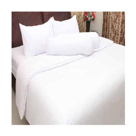 Sprei Polos Putih 160200 jual chelsea microtex polos set sprei dan bed cover putih harga kualitas terjamin