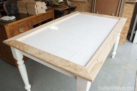 how to a tile table top tile top table makeover updating a tile top table with