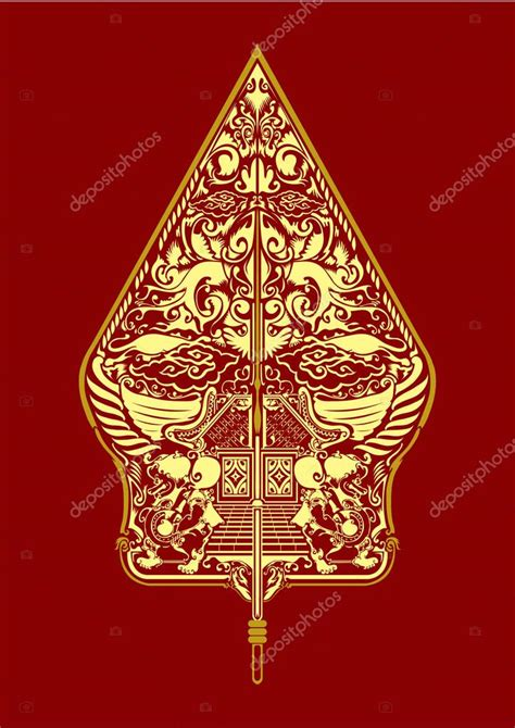indonesian traditional pattern vector pattern gunungan wayang javanese indonesia stock vector