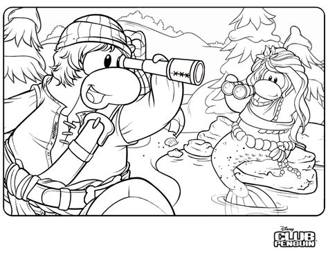 New Club Penguin Coloring Page Club Penguin Cheats 2012 Club Penguin Coloring Pages
