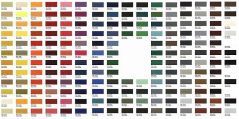 all ral tabela de cores