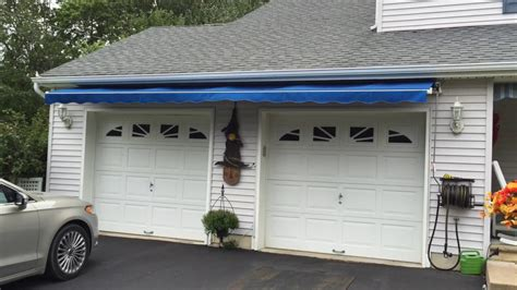 garage awnings retractable awning over garage doors long beach twp nj