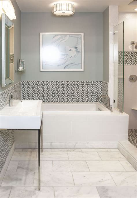 bathroom mosaic modern marble and glass mosaic bathroom thetileshop