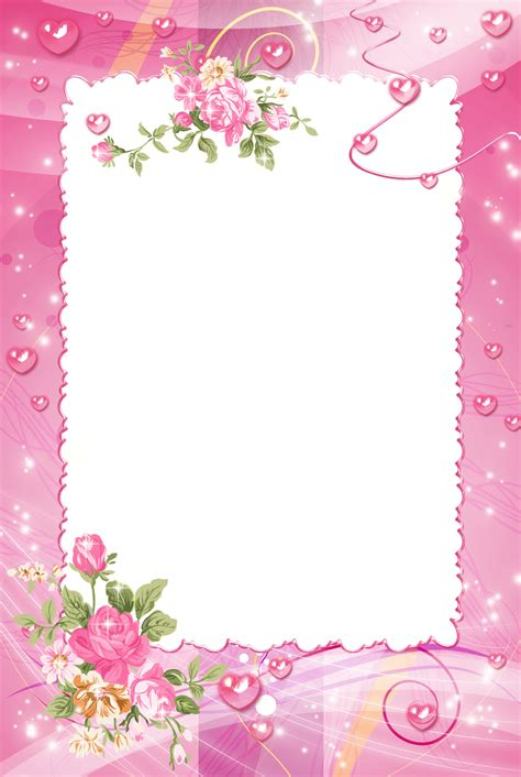 pink pattern background png pink png photo frame with roses wallpapers and more