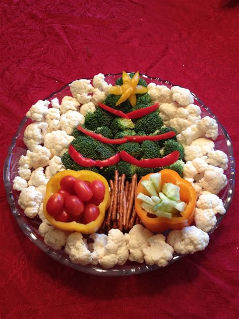 christmas tree relish tray vegetable tray