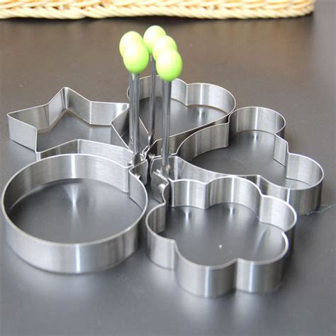 Stainless Steel Fried Egg Mold 1836 thick stainless steel egg mold fried eggs pancake