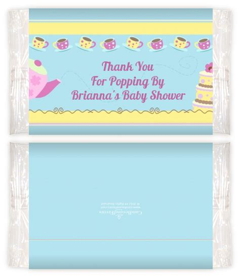 Baby Shower Popcorn Wrappers by Baby Brewing Tea Baby Shower Popcorn Wrappers Baby