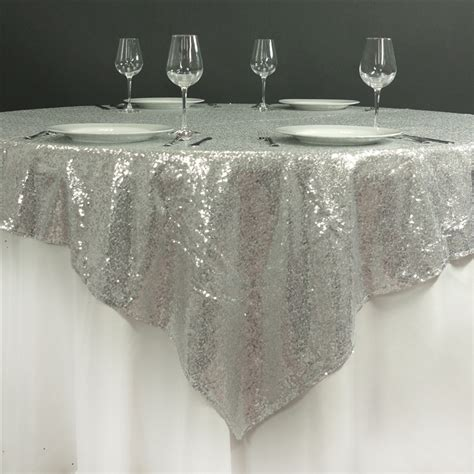 12 pcs sequin square 72x72 quot table overlays sparkly wedding