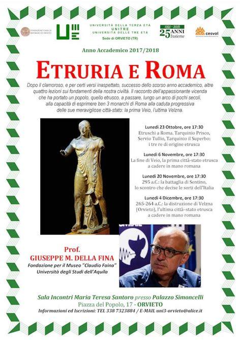 etruria roma quot etruria e roma quot all unitre le lezioni di storia antica
