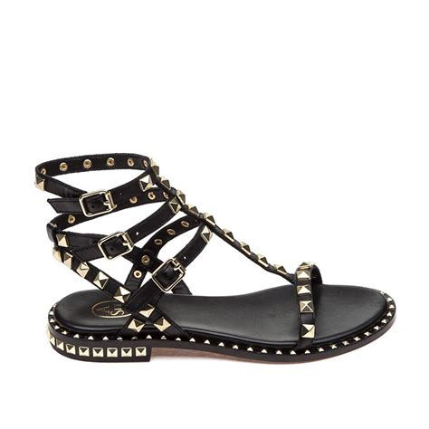 black sandals ash poison sandal black leather ash women s sandals
