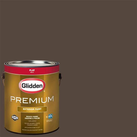 glidden premium 1 gal hdgwn39d earth brown flat exterior paint hdgwn39dpx 01f the home