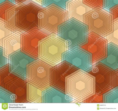 nostalgic colors hexagonal patterns in nostalgic colors seamless vector