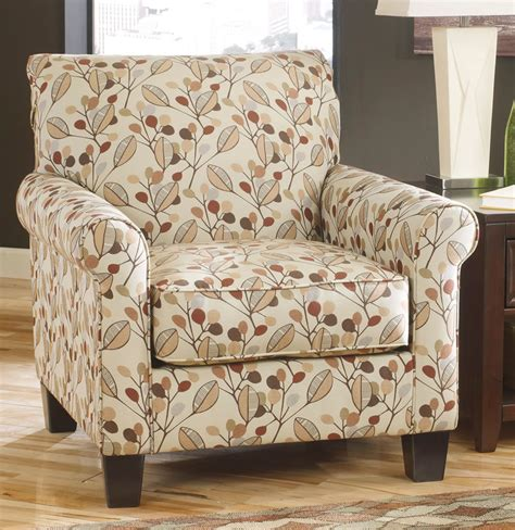 furniture cream with leaves design upholstered accent