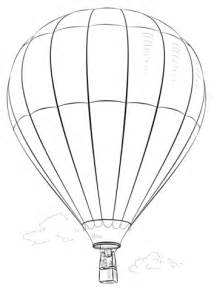 air balloon pencil drawing dibujo de globo de aire caliente para colorear dibujos