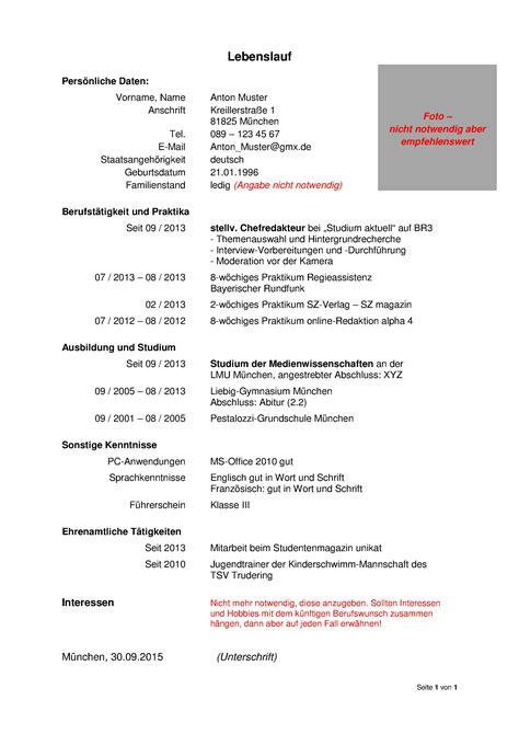 Tabellarischer Lebenslauf Ihk Was Geh 246 Rt In Einen Lebenslauf Lebenslauf Beispiel
