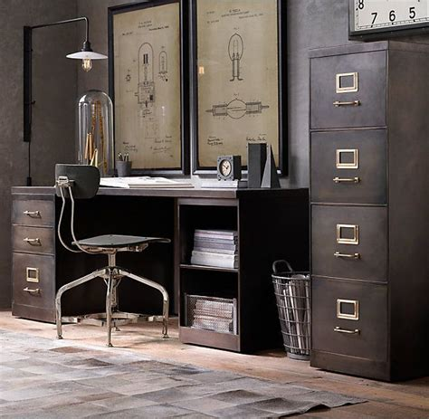 industrial style file cabinet rh s 1940s industrial modular office 18 quot 4 file