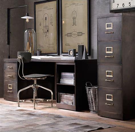 restoration hardware office furniture rh s 1940s industrial modular office 18 quot 4 drawer file