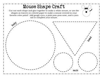 pattern cutting activities mouse paint shape craft by jennifer miller teachers pay