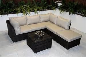 rattan garden corner sofa set